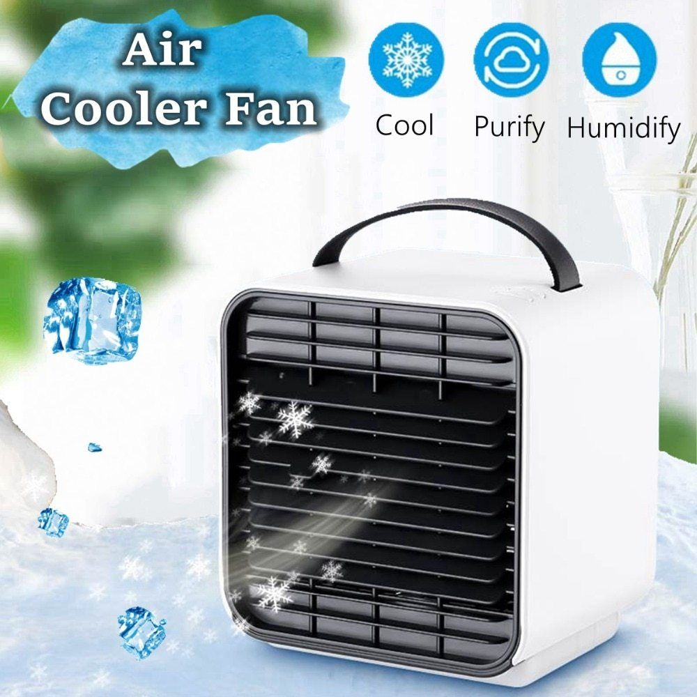 WXB New Mini Negative Ion LED Air Conditioning Fan