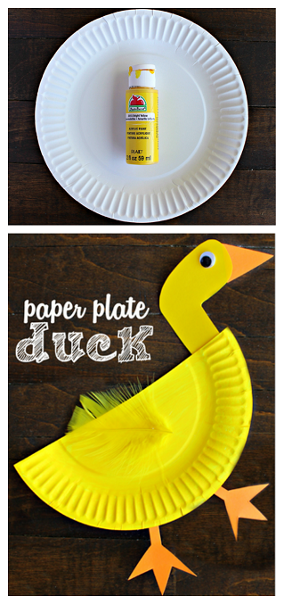 Paper Plate Duck Craft for Kids (craft for story of the ugly duckling story & Paper Plate Duck Craft for Kids (craft for story of: the ugly ...