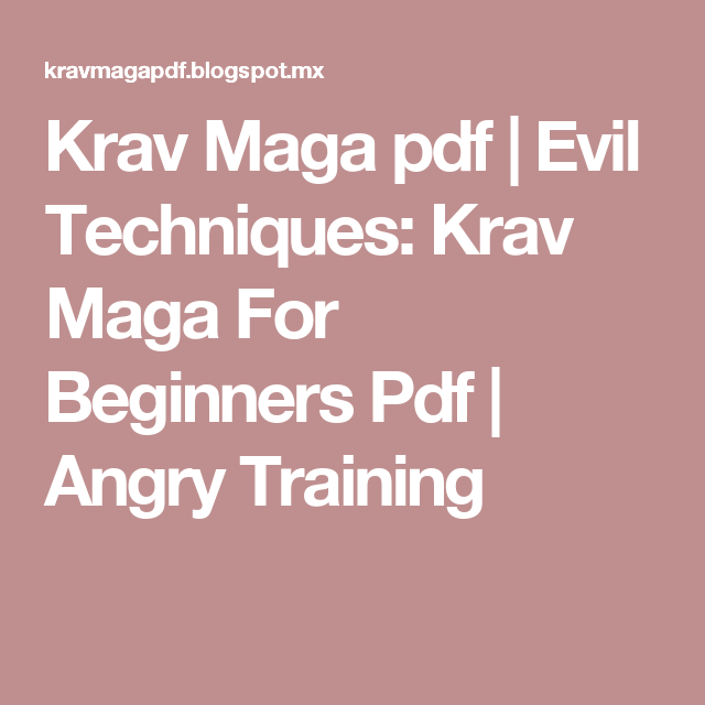 complete krav maga the ultimate guide pdf free download