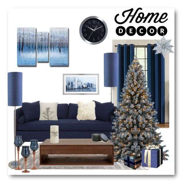 """""""Blue Kinds of Beautiful!"""" by bliznec ❤ liked on Polyvore featuring interior, interiors, interior design, home, home decor, interior decorating, Ethan Allen, Westclox and Archipelago Botanicals"""