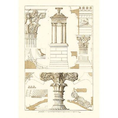 Buyenlarge Monument Of Lysicrates At Athens By J Buhlmann Graphic Art Renaissance Architecture Art Print Display Architecture Drawing