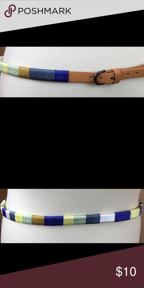 "d75495e8c50ee J Crew Factory thread wrap belt. Large. J Crew Factory thread wrap belt.  Large. 40"" J. Crew Factory Accessories Belts"