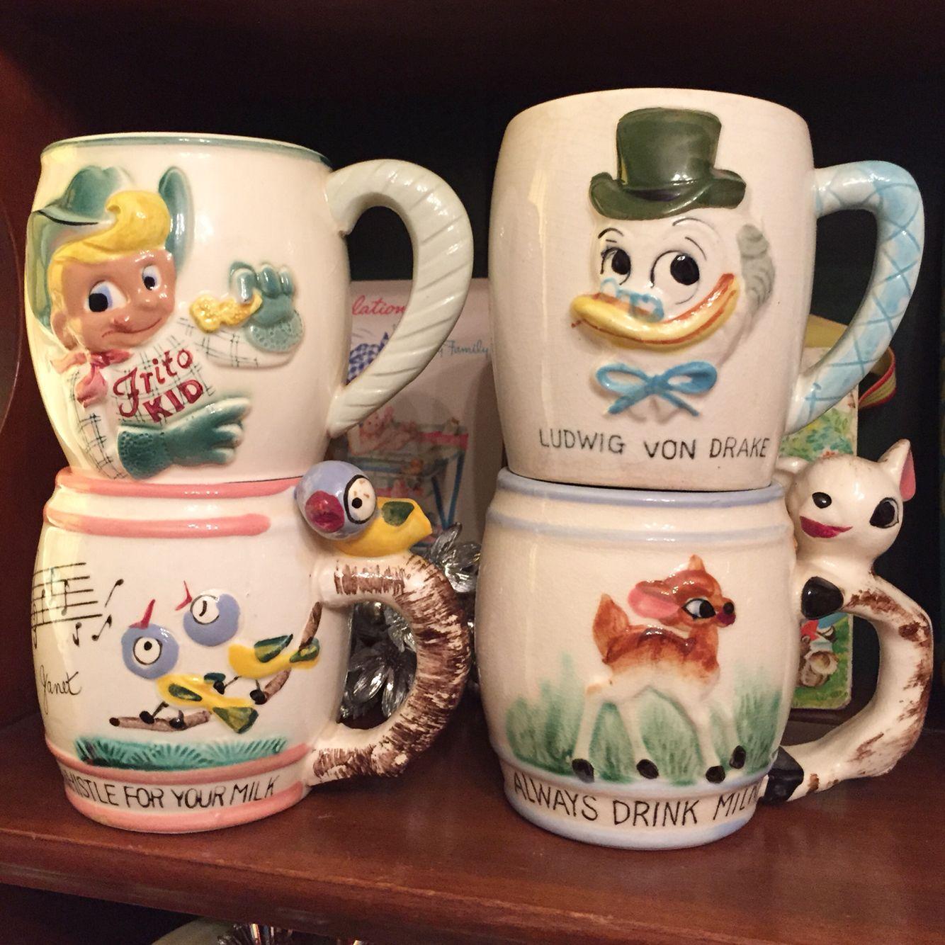 1950 S Children S Ceramic Mug Obsession Vintage Kitsch Kitschy Decor Childrens Mugs
