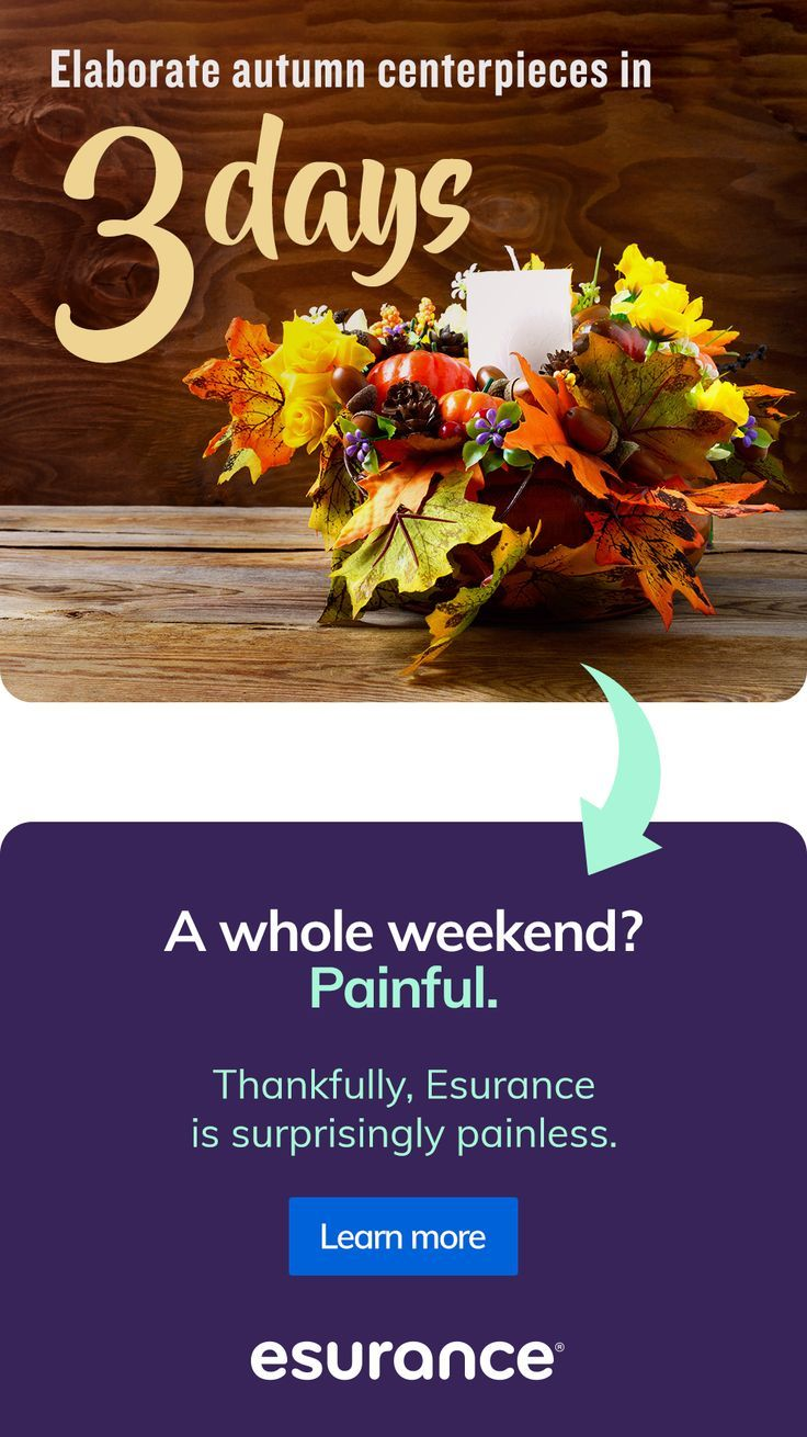 ELABORATE AUTUMN CENTERPIECE IN 3 DAYS.insurance tips