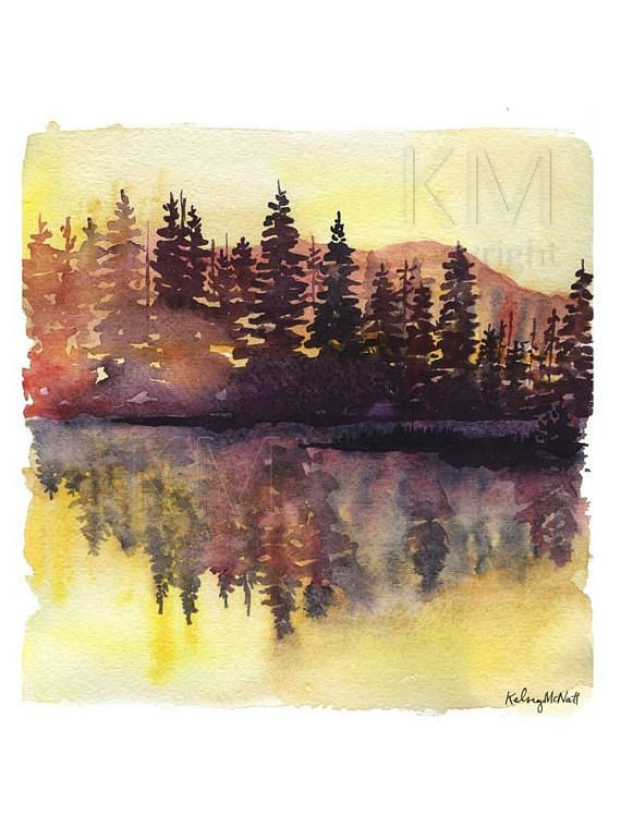 This Is A Print From My Original Watercolor Painting Misty Pines