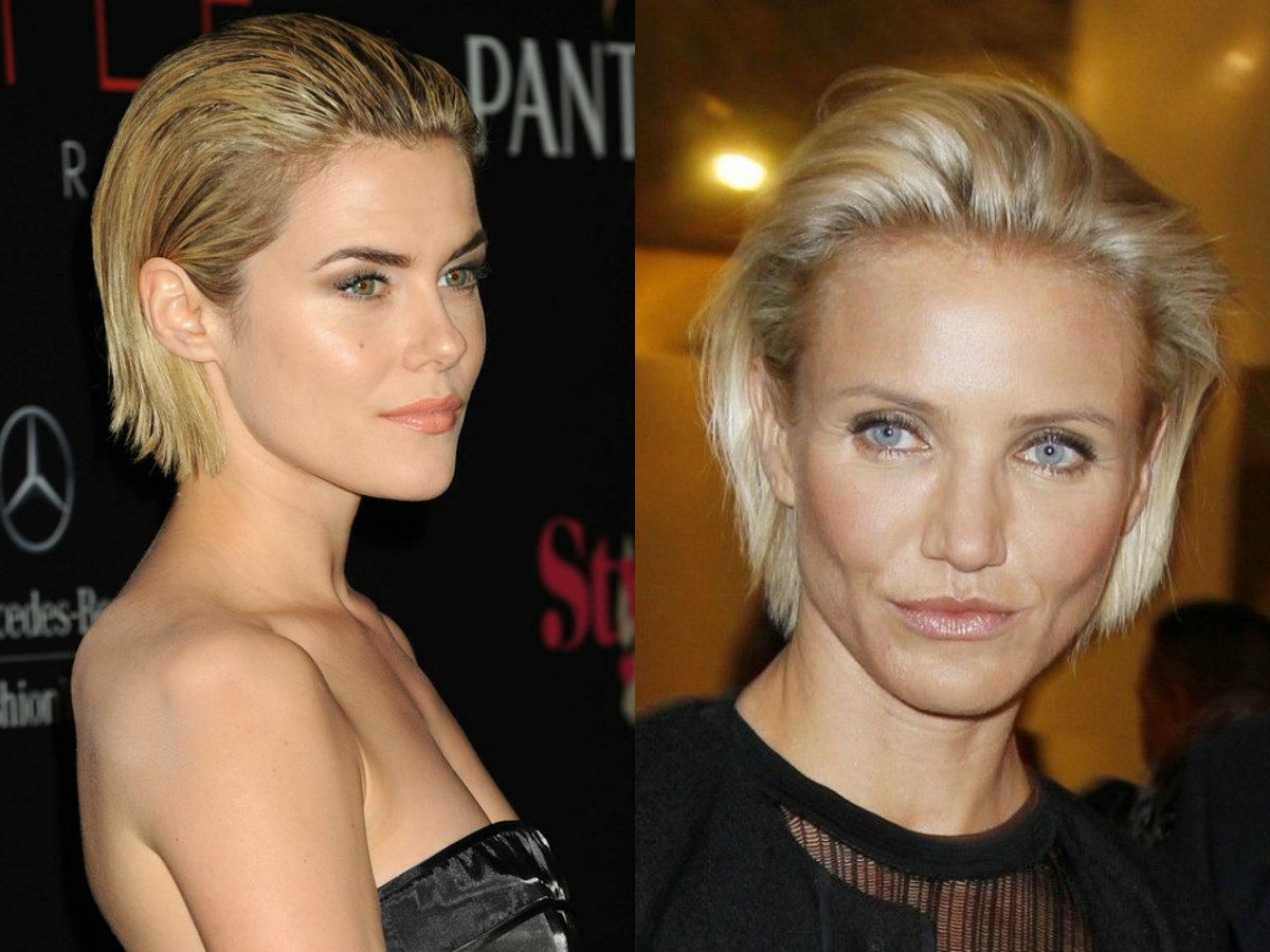 Celebrity blonde slicked back bob hairstyles   hairstyle
