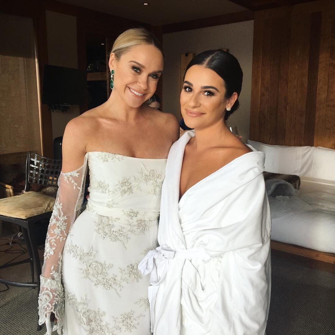 Lea Michele And Becca Tobin Shopping For Wedding Dresses