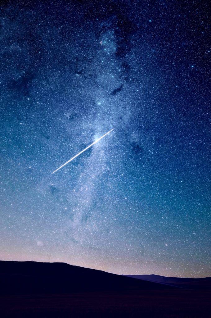 Fondo De Pantalla De Noche Cielo Estrellas Fugaz Deseo Fondos
