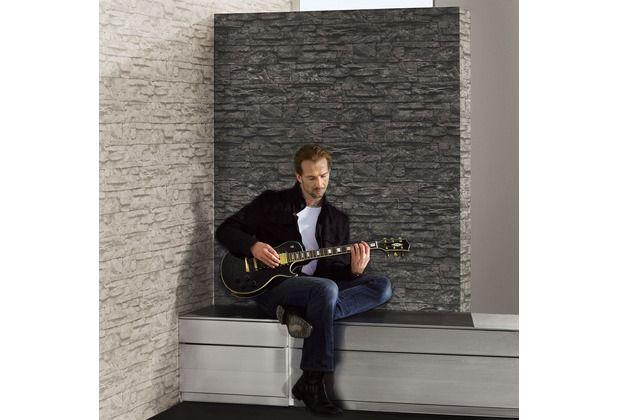 tapete #stein #wanddekor #ziegelstein #design #wohnzimmer ... - Stein Design Wohnzimmer