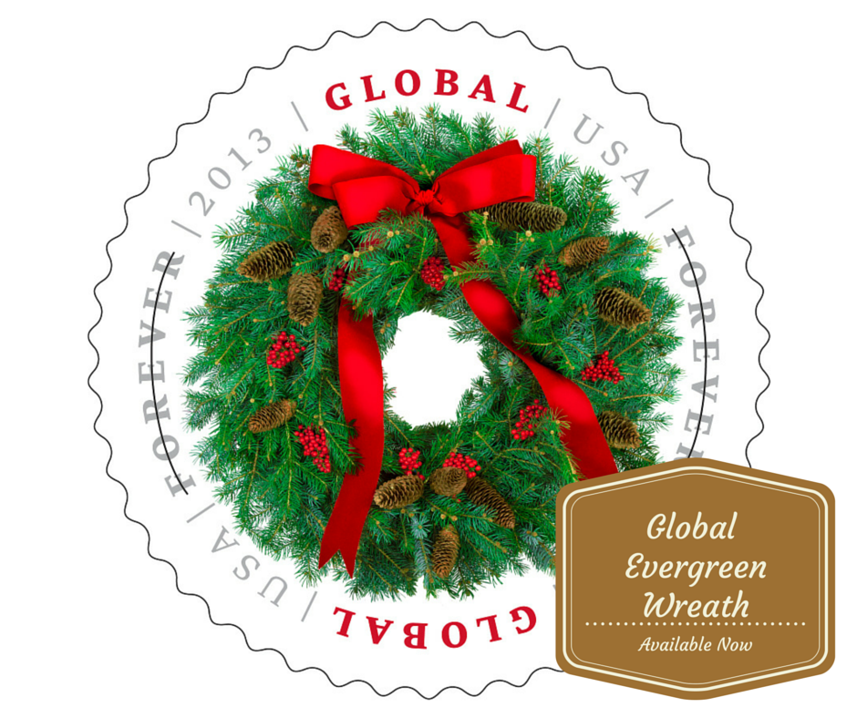 The Evergreen Wreath Global ForeverR Stamp Offers A Single Price For 1 Ounce