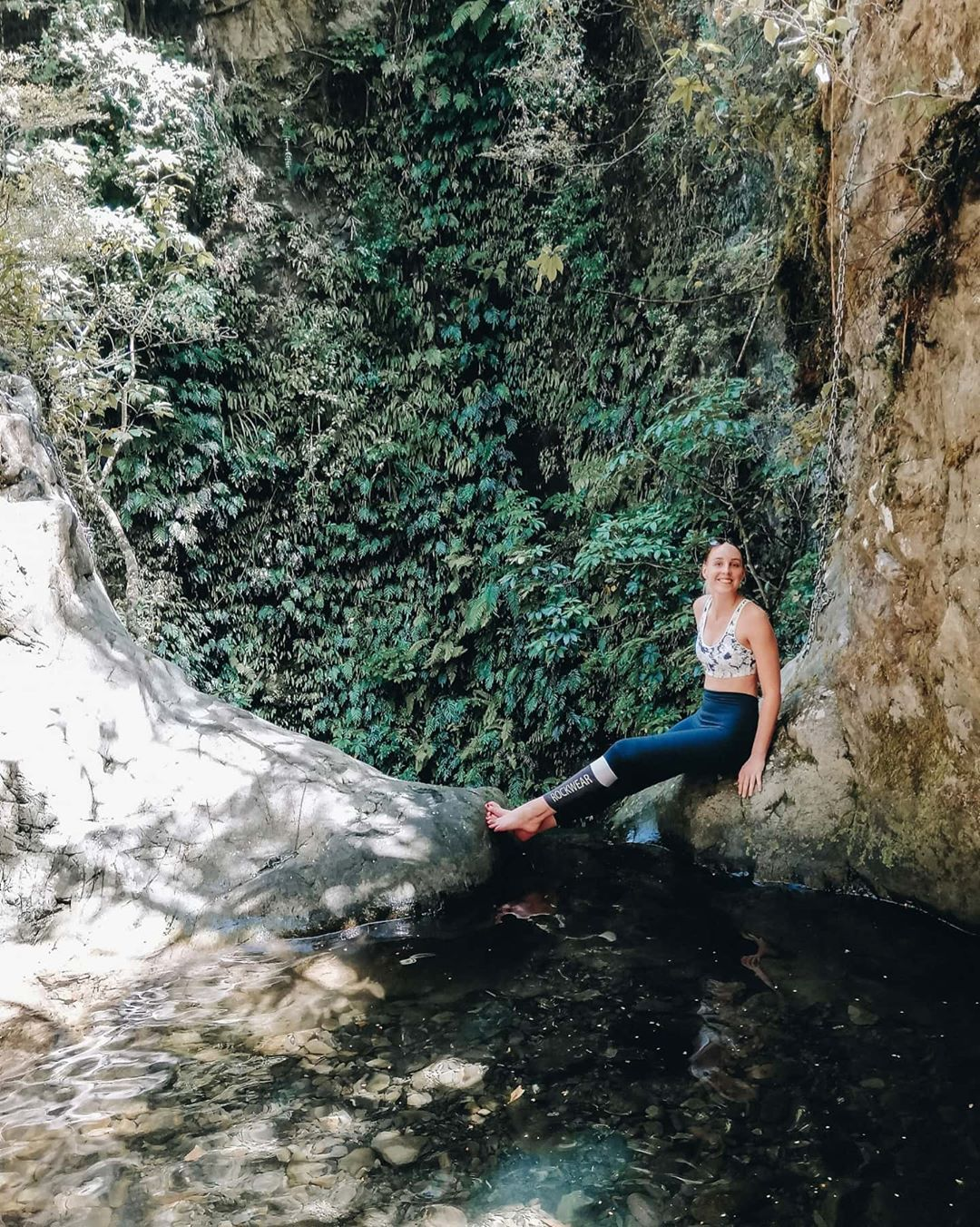 Went chasing a waterfall this morning and found a magical little pool right at the top 💙 Swipe for m...