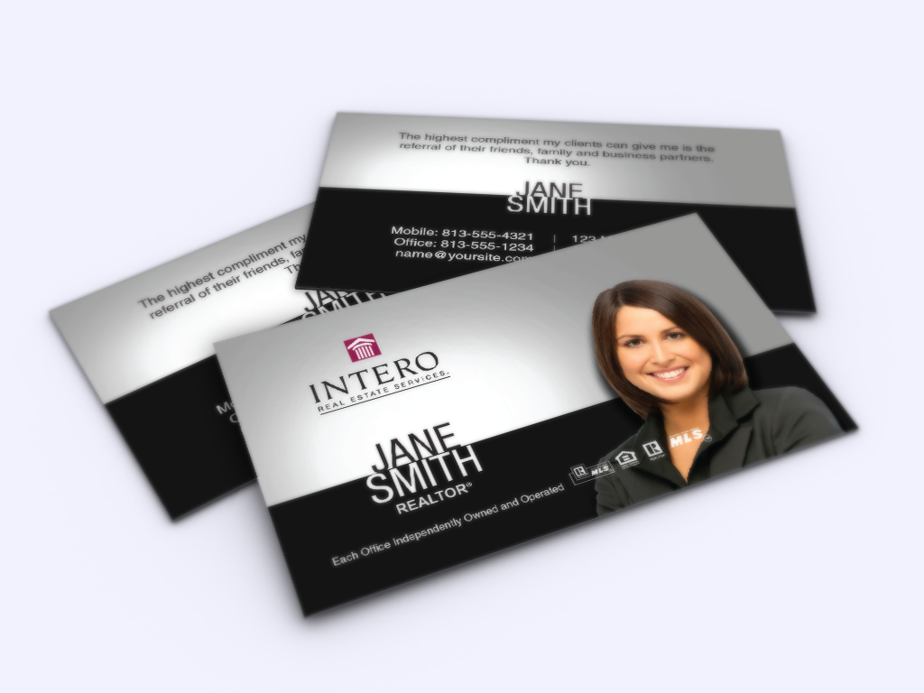 New Business Cards Are Here For Intero Realtors Realtor Intero Realestate Realtors Realty Real Estate Business Cards Business Cards Online Exit Realty