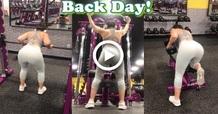 BACK WORKOUT For That HOURGLASS Shape! | Planet Fitness #fitness