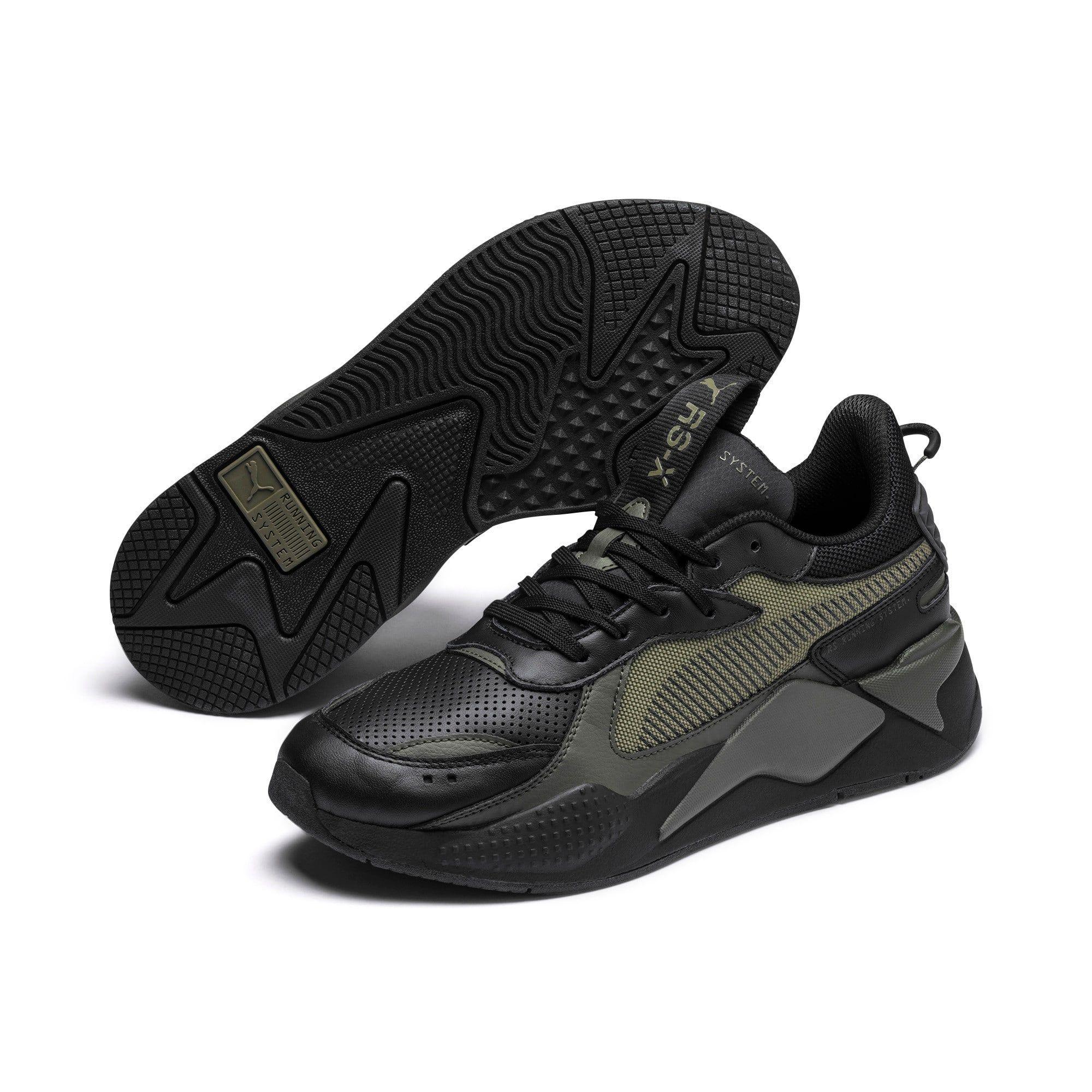 PUMA Chaussure Basket RS X Winterised, NoirVert, Taille