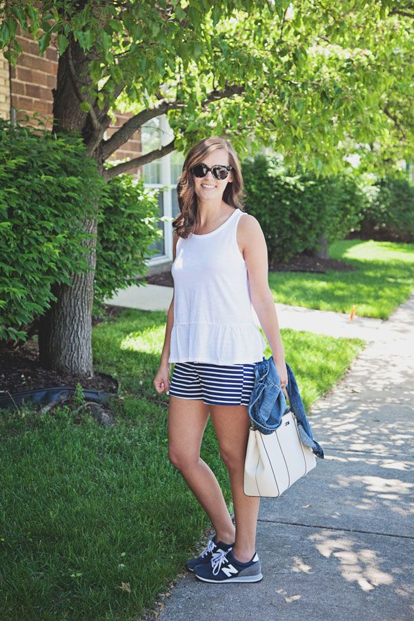my everyday style: striped shorts!