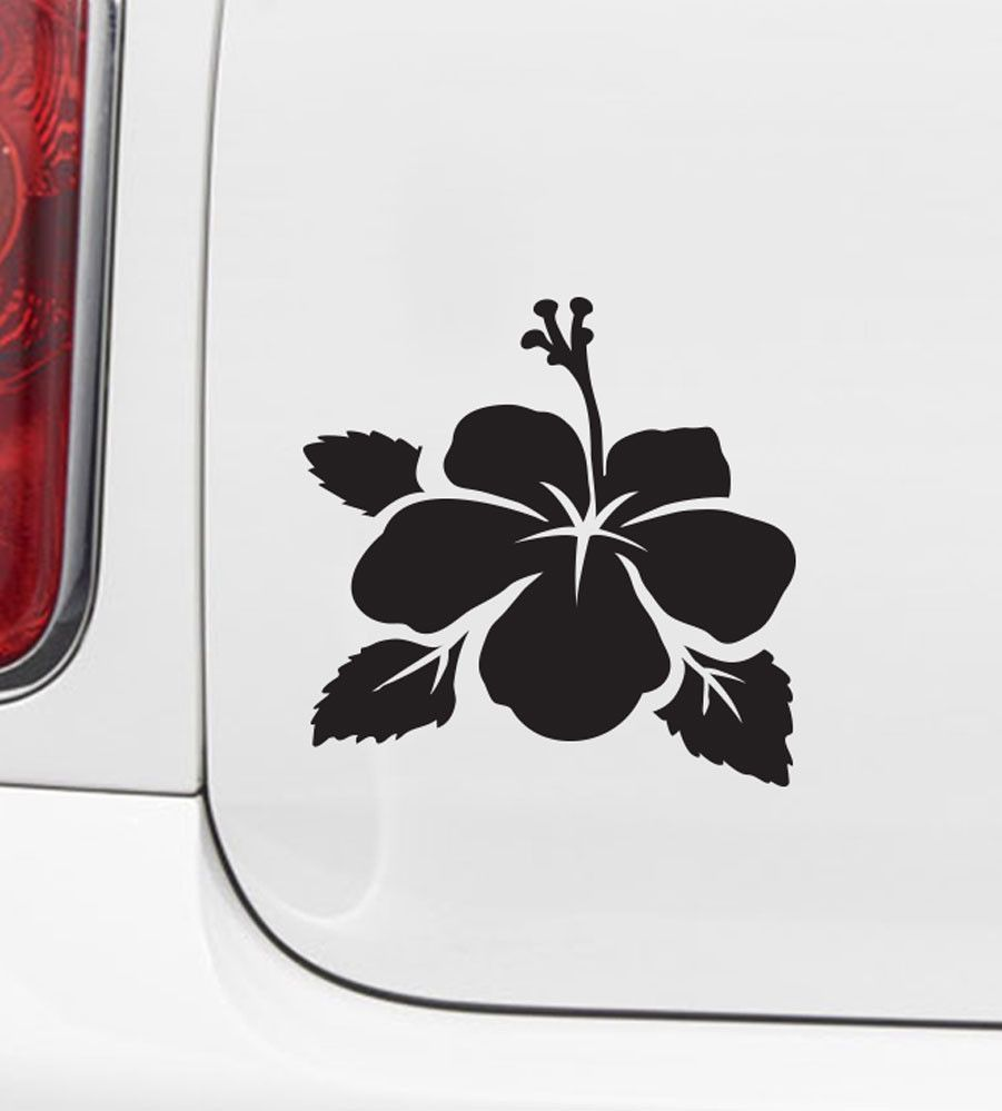 Car hibiscus flower d2 car vinyl decal sticker yydc 45 the decal store by yadda yadda design co car hibiscus flower d2 car vinyl decal sticker yydc 45w x izmirmasajfo