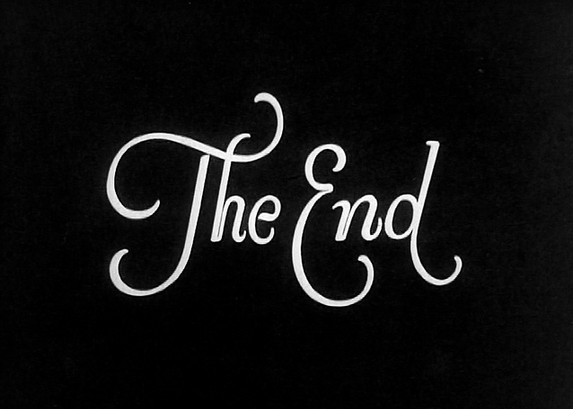 Fancy End Typography Inspiration The End Lettering
