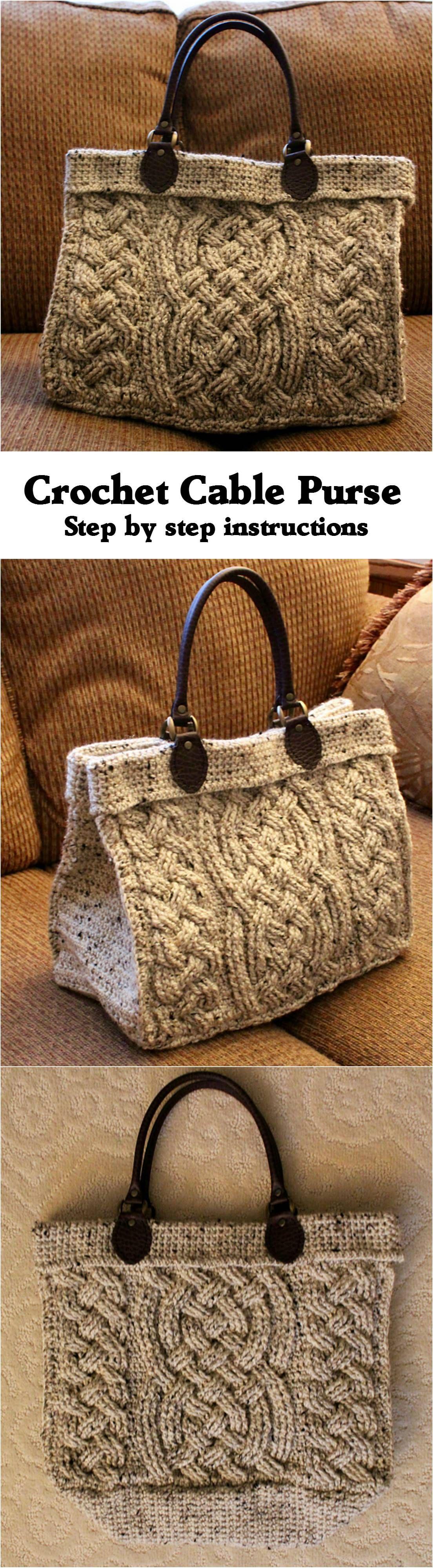 Crochet Cable Purse Crochet Pinterest Cable Handbag And Crochet # Web Muebles Jobe