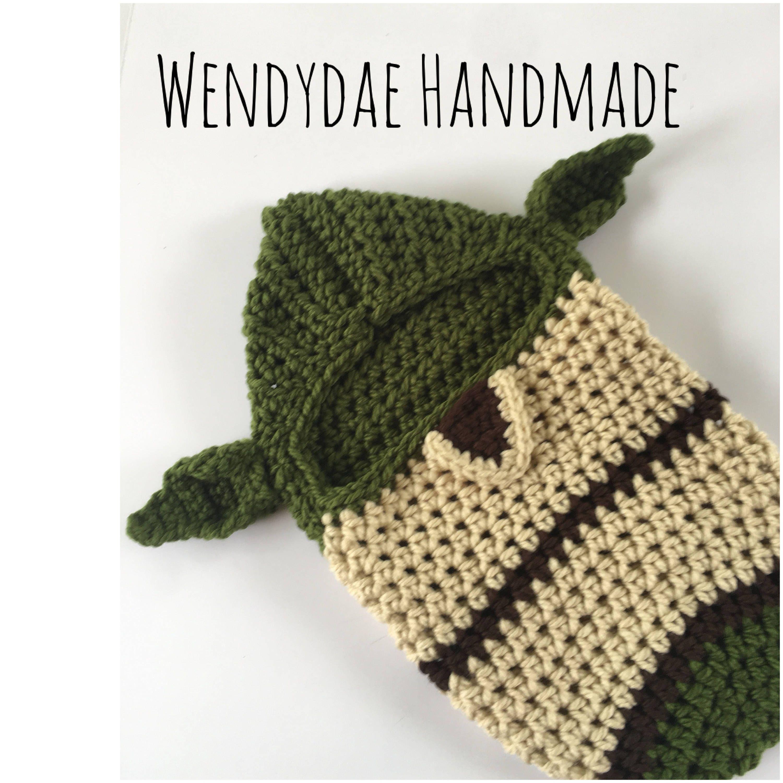 Crochet Pattern, Yoda, Newborn, Swaddle, Cocoon, Photo Prop, Snuggle ...