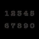 オシャレで見やすい 数字のスタンプ イラスト 数字 数字デザイン ジャーナリング