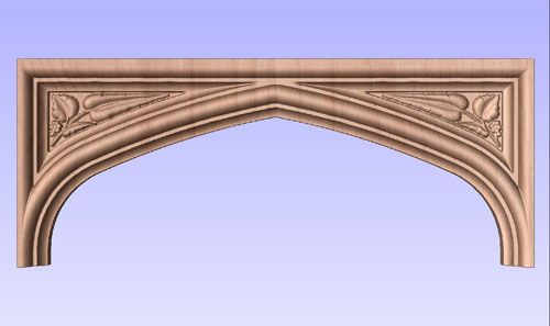 Tudor Arch With Carved Spandrels No 6 By Masterpiece Furniture