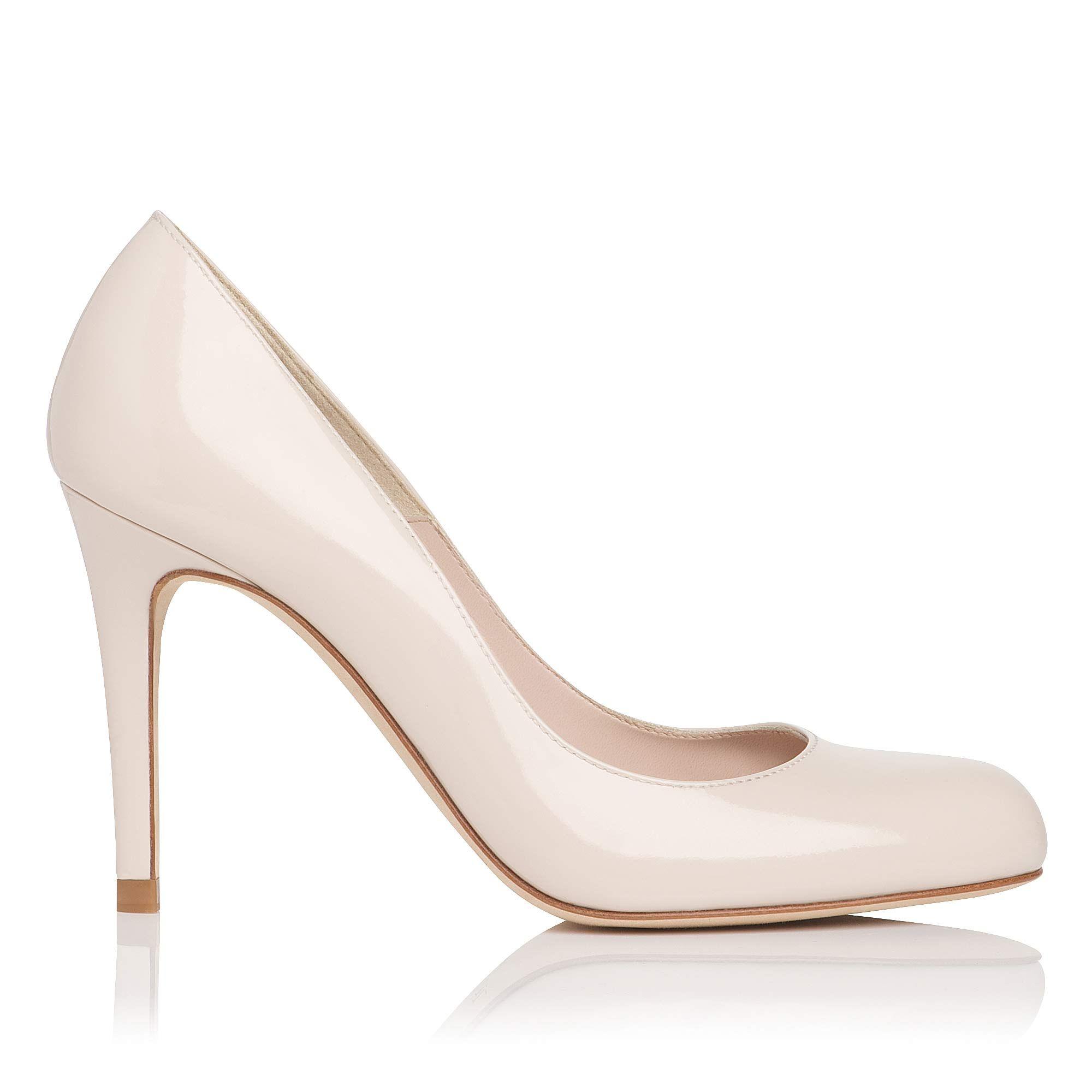 Shilo Patent Leather Court Shoe Off White LKBennett