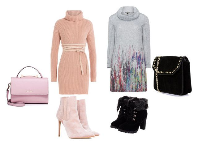 """soyez chics l'hiver arrive"" by asma150302 ❤ liked on Polyvore featuring Valentino, Twister, WithChic and Boohoo"