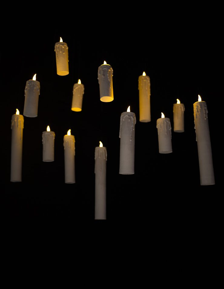 Halloween How-To: Floating Flameless Candles   Toilet ...
