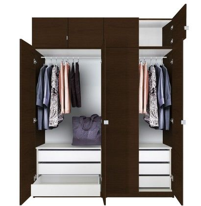 Alta Tall Wardrobe Closet Package 6 Drawer