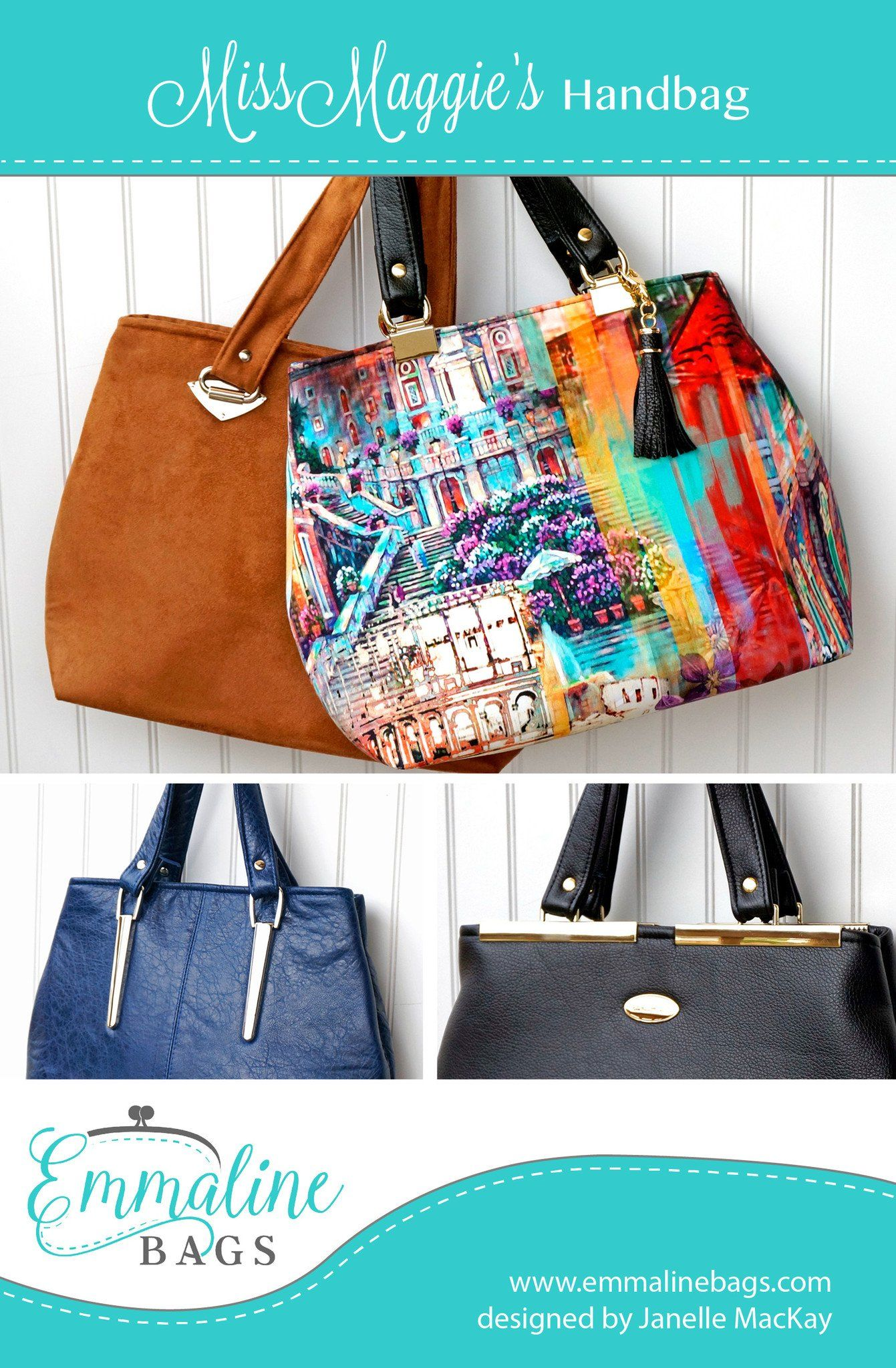 PDF - Miss Maggie\'s Handbag - A Free Pattern | Nähen | Pinterest | Nähen