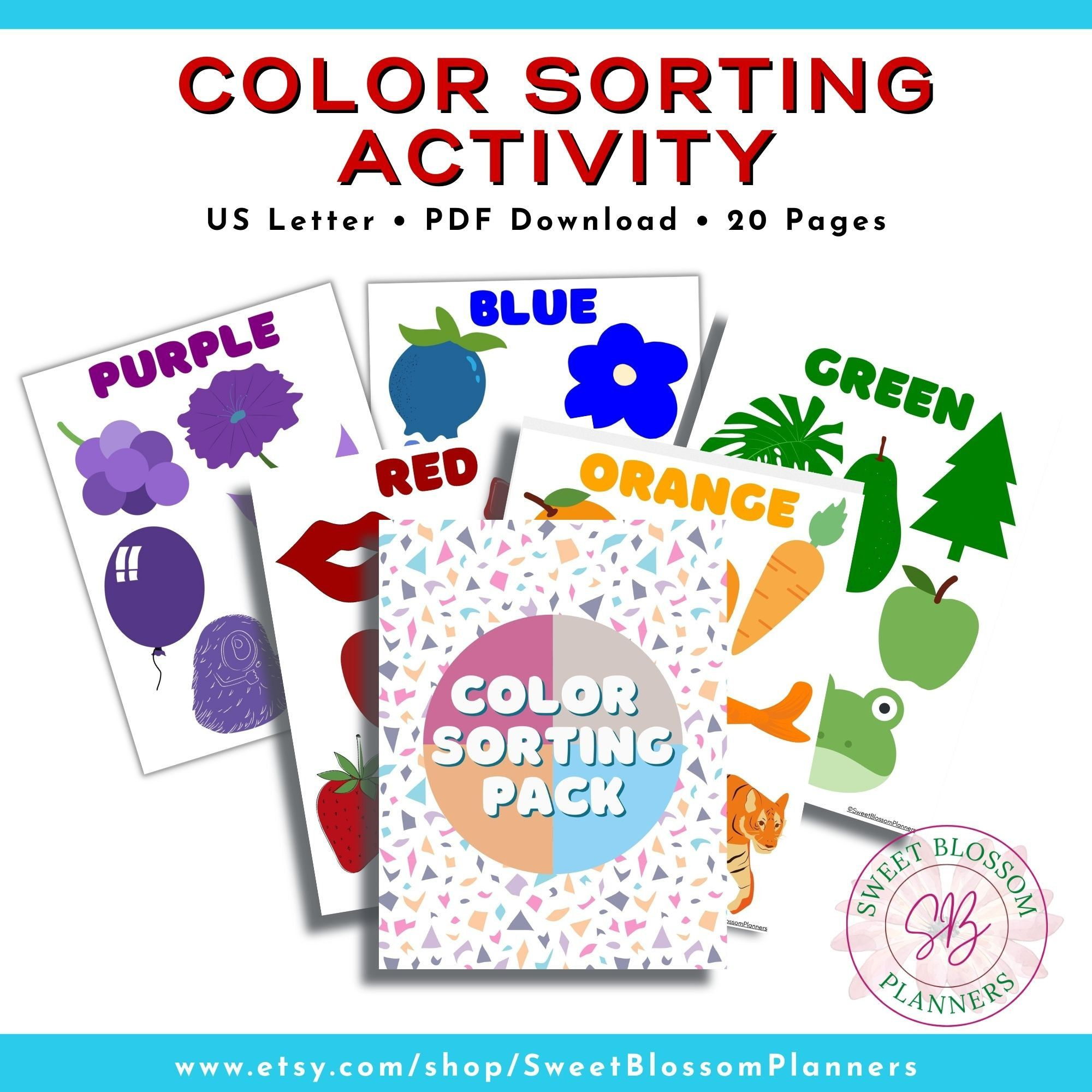 Color Sorting Activity. Color Matching Printable Color matching activity, Learning colors Curriculum, Toddler Activity, Homeschool Printable by SweetBlossomPlanners on Etsy