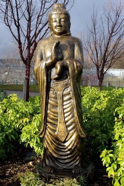 Buda alto rezando dorado/negro - 140cm | AW Regalos
