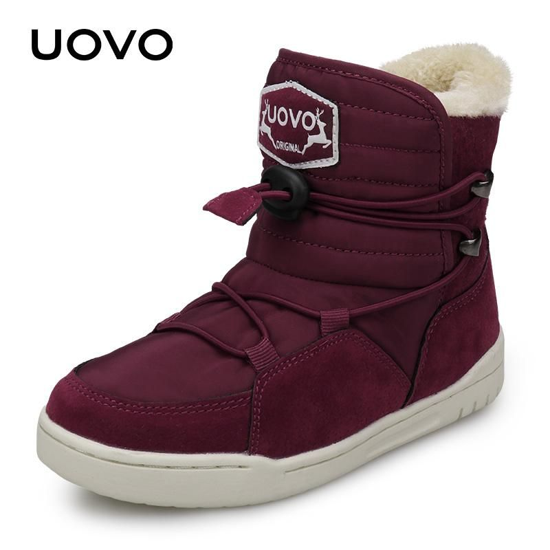 3ba5d3db8d16b Winter Kids Snow Boots 2018 UOVO New Arrival Fashion Children Warm Boots  Boys And Girls Shoes