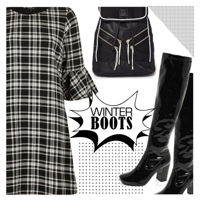 """""""So Cozy: Winter Boots"""" by shoaleh-nia ❤ liked on Polyvore featuring River Island"""