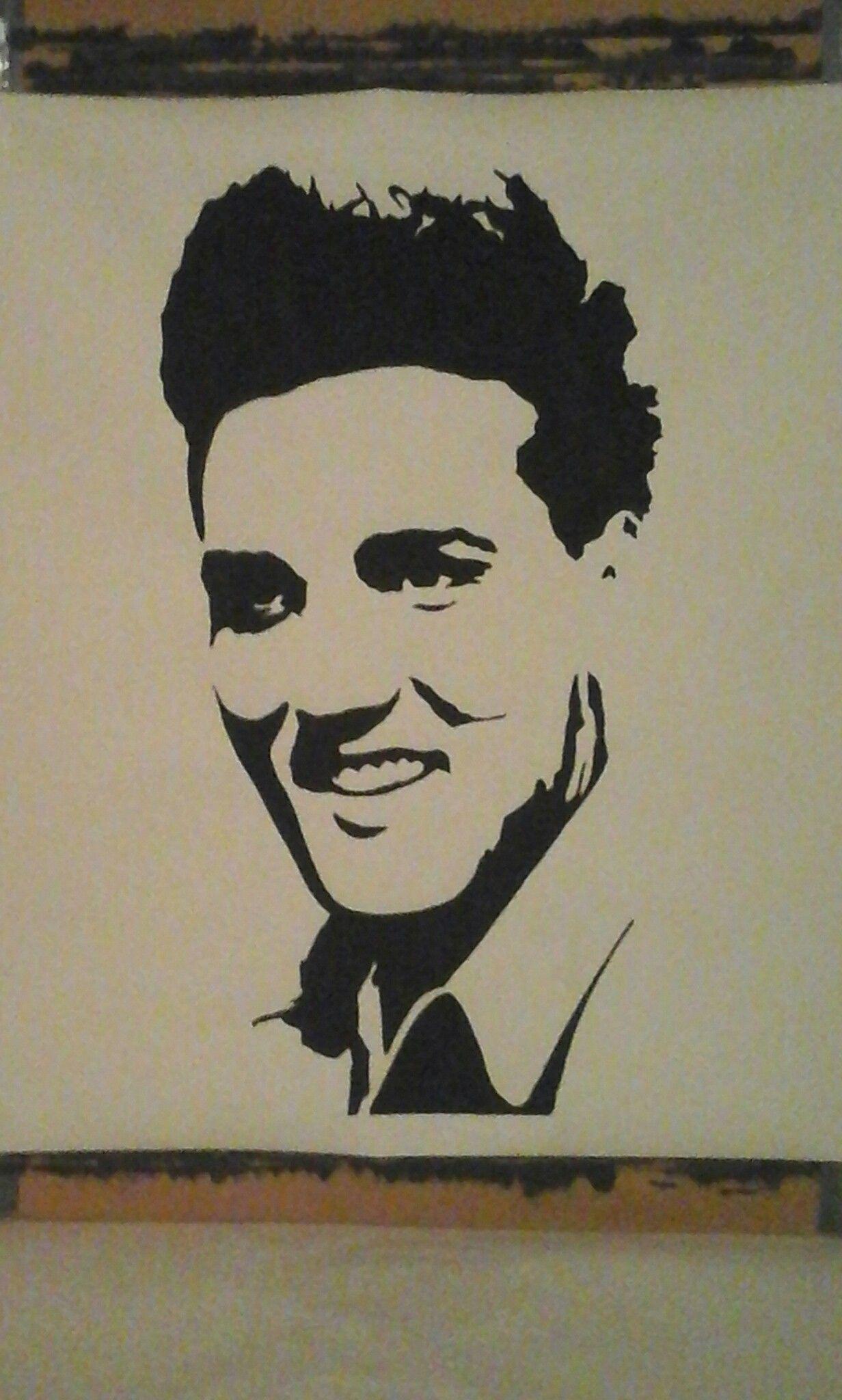 Elvis Presley / painting by Roy imagens) Ideias