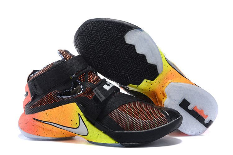 Buy For Sale Nike New LeBron Soldier 9 Rise Black Red Orange Yellow from  Reliable For Sale Nike New LeBron Soldier 9 Rise Black Red Orange Yellow  suppliers.