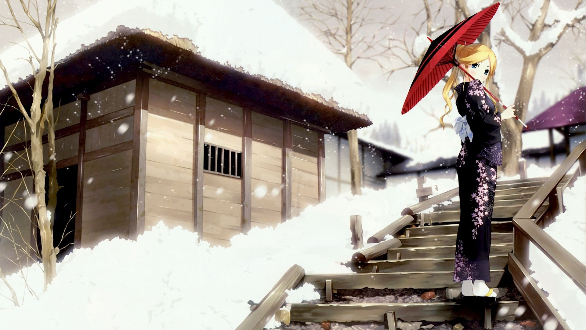 Beautiful Winter Anime Pictures