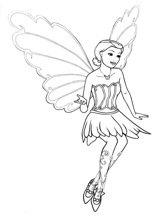 Adventure Of Barbie Mariposa Coloring Pages | Coloring ...