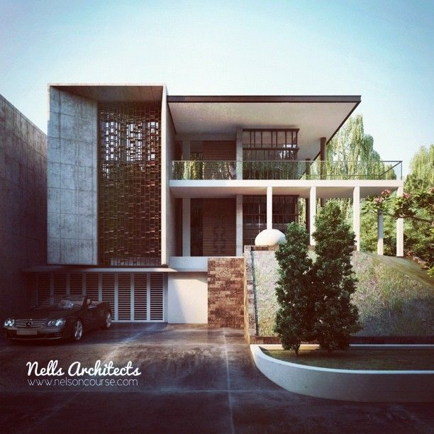 irostagram modern tropical house architecture archdaily vray design 3darts
