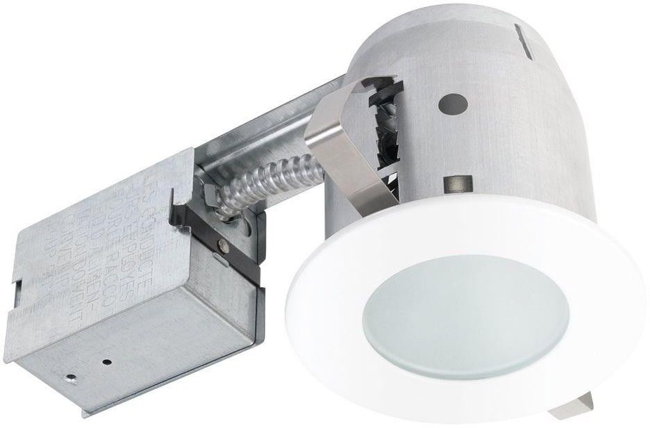 Frosted Glass White Recessed Circular Shower Lighting Kit Waterproof Dimmable Lightingkit Recessed Lighting Kits Recessed Shower Lighting Recessed Lighting
