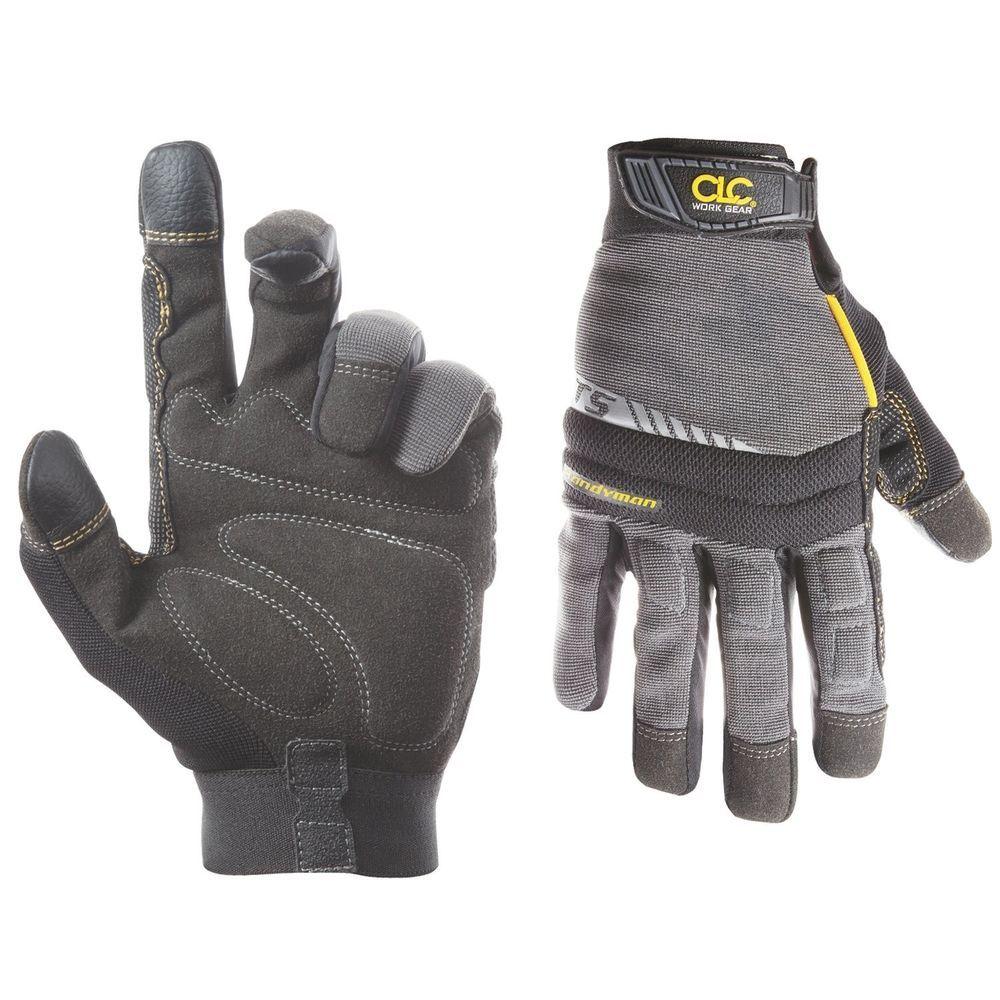 Men Winter Warm Gloves Waterproof Insulated Work Sky Black Large Heavy Duty Grip
