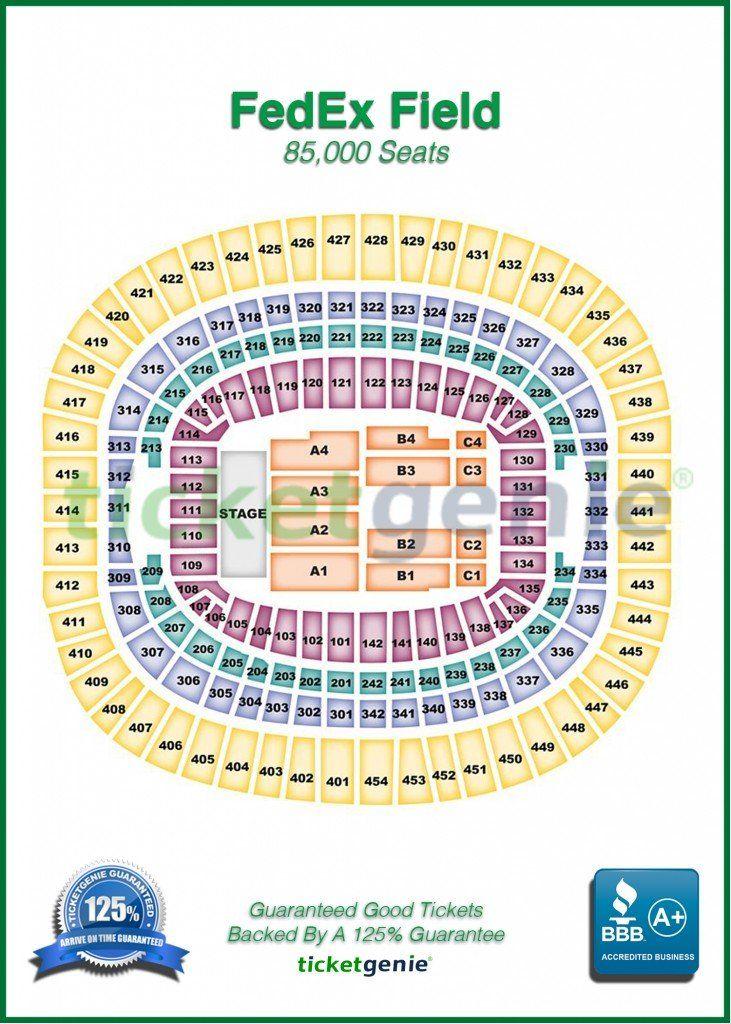 Redskin Stadium Map : redskin, stadium, Popular, Stadium