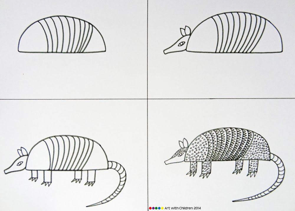 how to draw an armadillo # 1