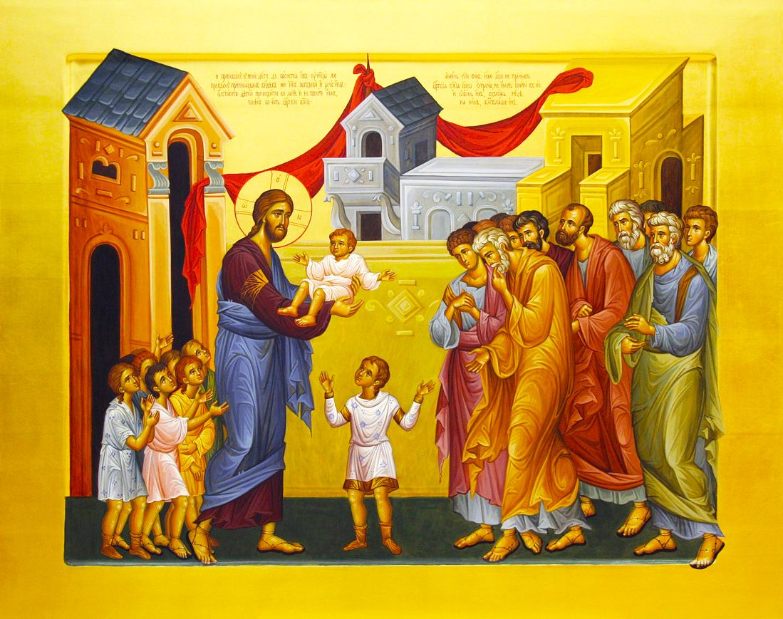 At that time the disciples came to Jesus, saying, 'Who is the greatest in  the Kingdom of Heaven?' And calling to … | Bless the child, Christian art,  Orthodox icons