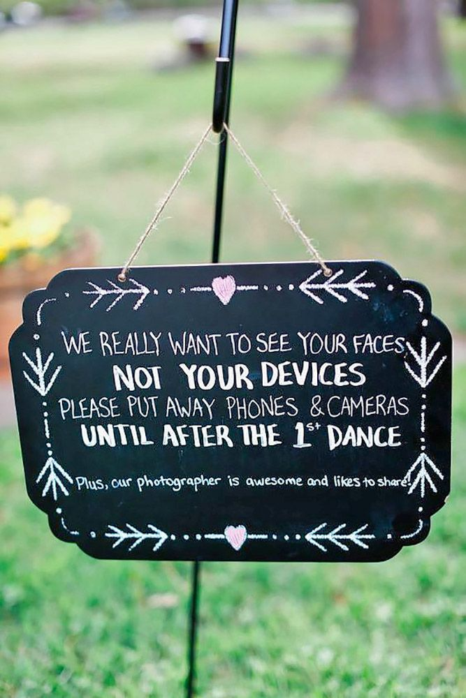 30 Clever Funny Wedding Signs For Your Reception I Said Yes