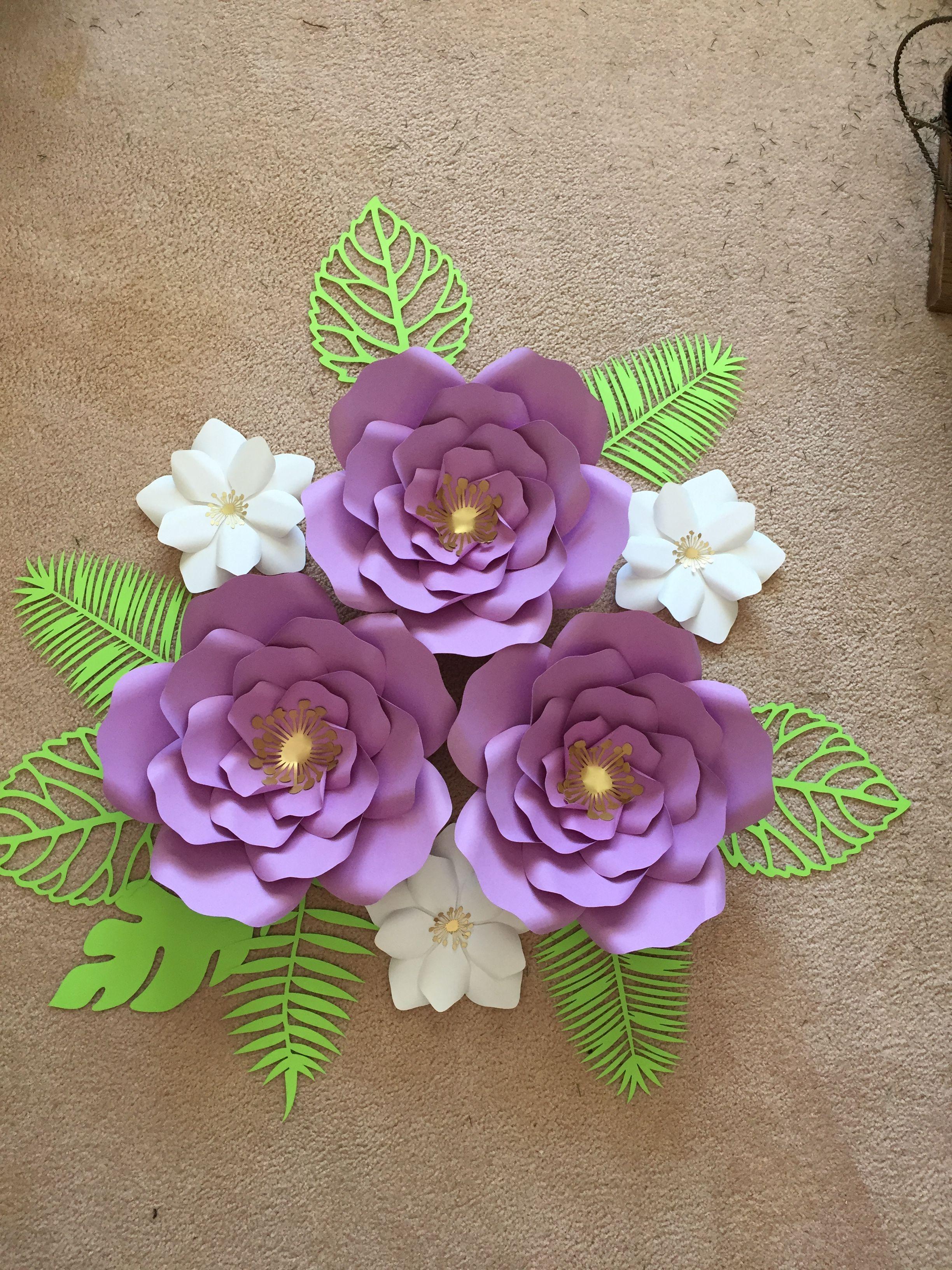 Tropical Paper Flowers Flower Templates Pinterest Paper Roses