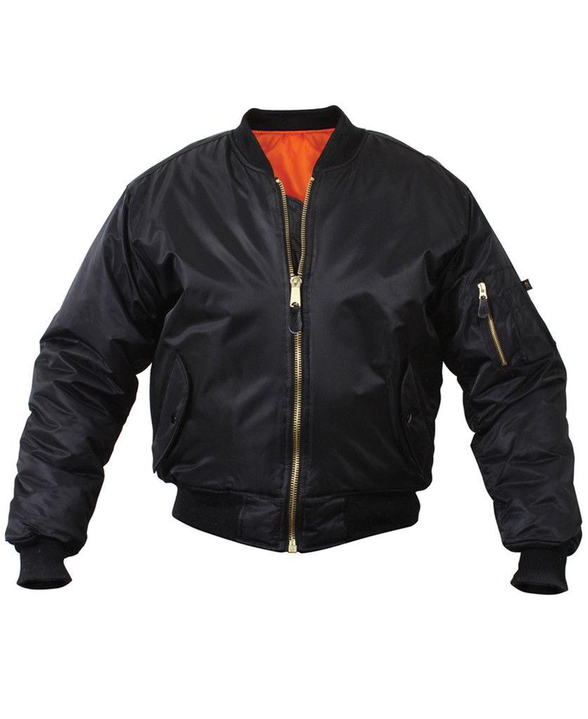 Rothco Ma 1 Flight Jacket Black Bomber Jacket Tactical Jacket Flight Jacket [ 1024 x 837 Pixel ]