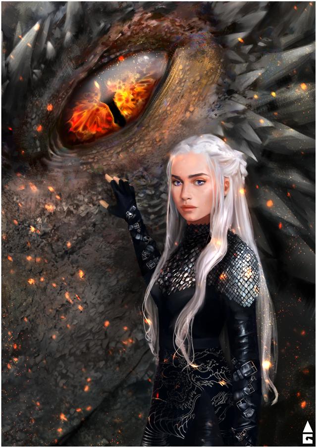 Game Of Thrones Fanart Got Asoiaf Daenerys Targaryen Drogon Gameofthrones Game Of Thrones F Game Of Thrones Artwork Targaryen Art Game Of Throne Daenerys
