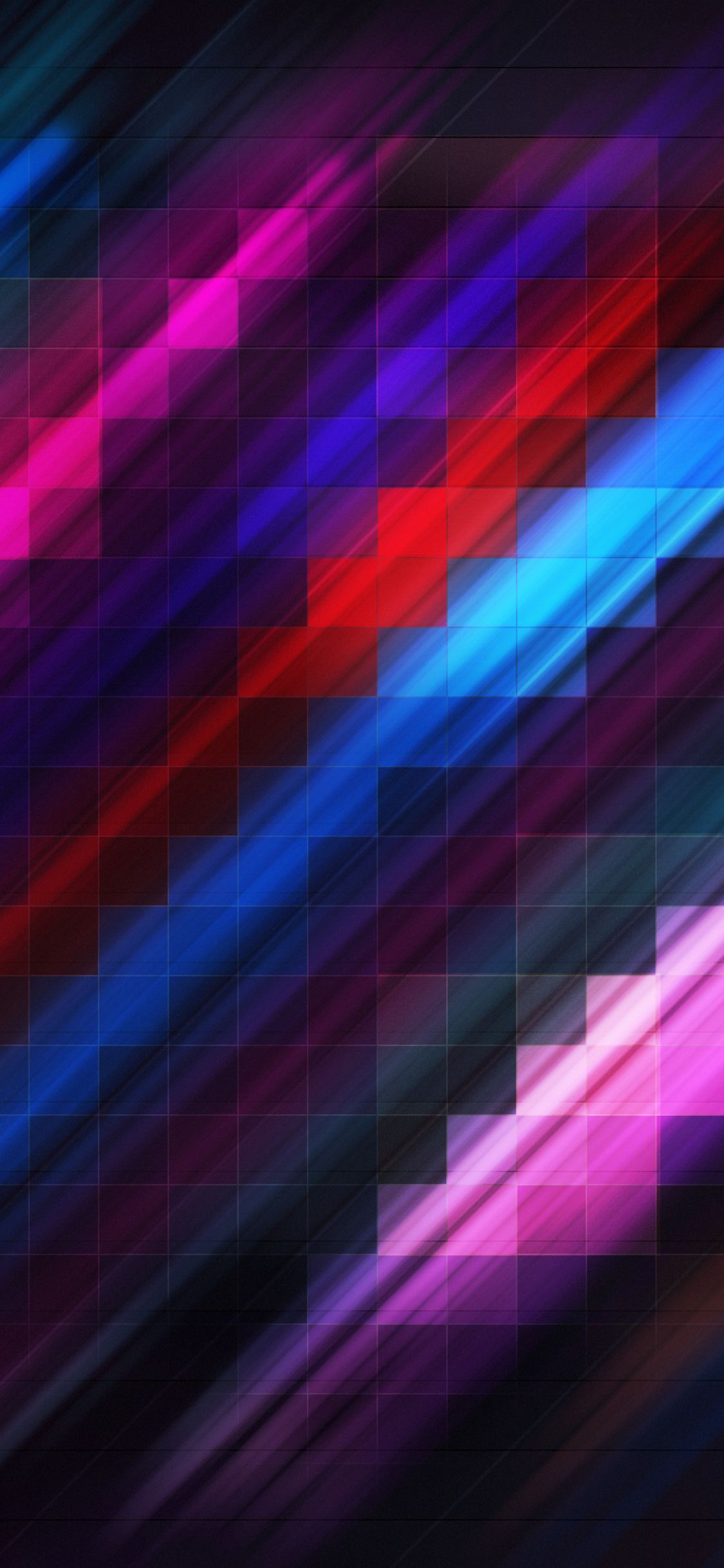 Grid Abstract Colorful 4k In 1125x2436 Resolution Abstract