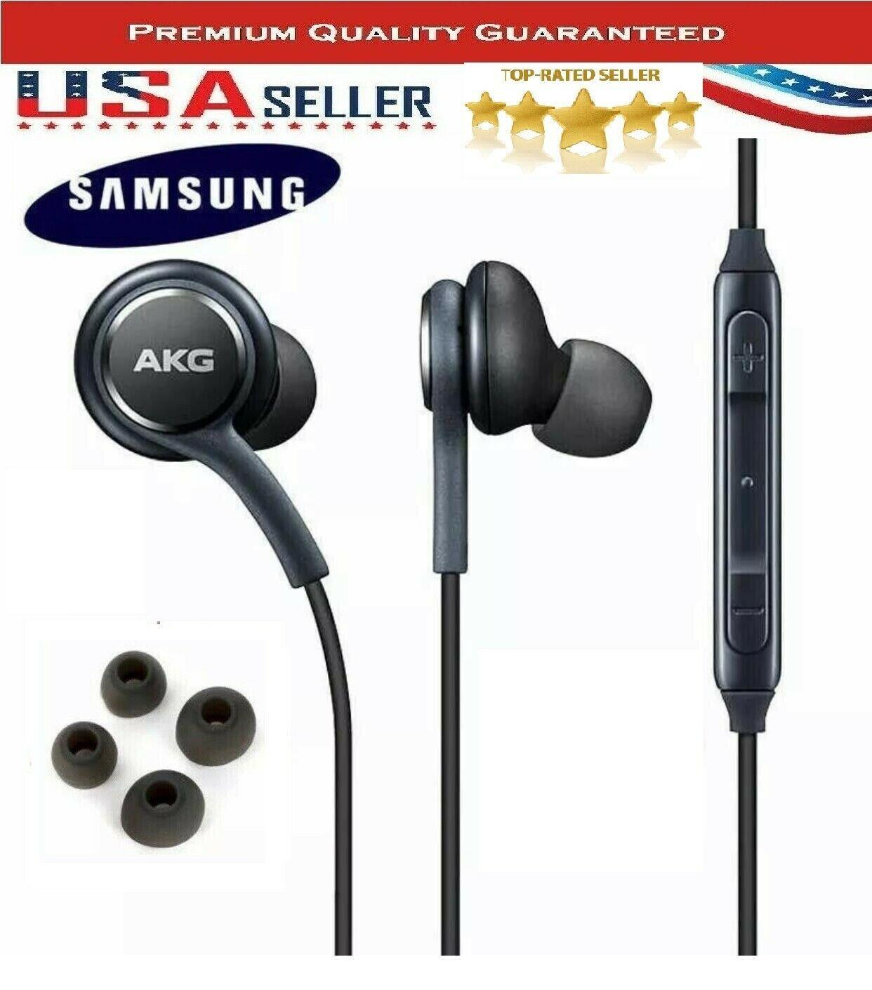 New Original Genuine Samsung Akg Stereo Headphones Earphones In Ear Earbuds Smart Product Affiliate In 2020 Headphones Stereo Headphones Earbuds